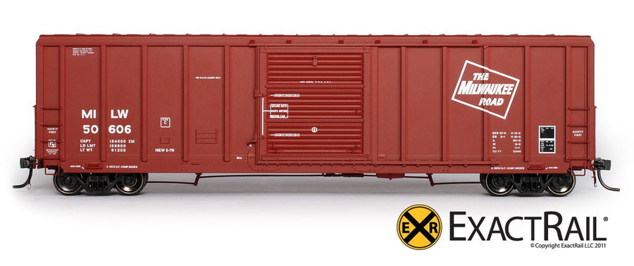 HO Scale: P-S 5344 Box Car - Milwaukee Road