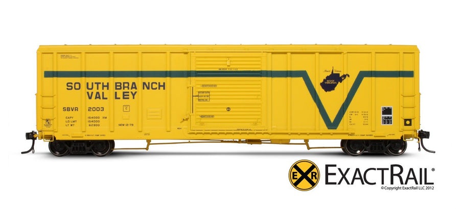 HO Scale: P-S 5344 Boxcar - South Branch Valley
