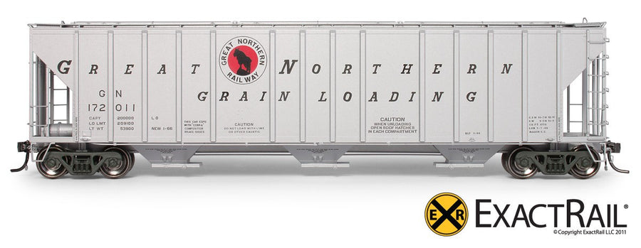 HO Scale: Magor 4750 Covered Hopper - Great Northern