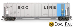 X - Magor 4750 Covered Hopper : SOO - ExactRail Model Trains - 2