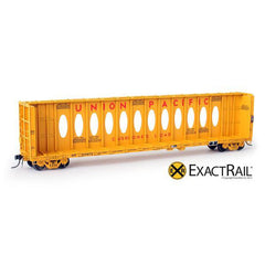 "HO Scale: X - Thrall 63' ""Opera Window"" Center-Beam Flat Car - UP"