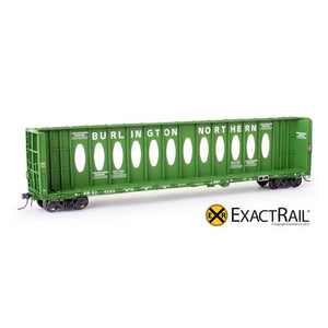 "HO Scale: Thrall 63' ""Opera Window"" Center-Beam Flat Car - BN"