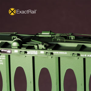 HO Scale: Thrall 63' Centerbeam Flat Car - Burlington Northern