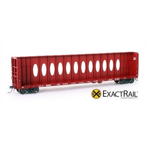 "HO Scale: Thrall 63' ""Opera Window"" Center-Beam Flat Car - BNSF"