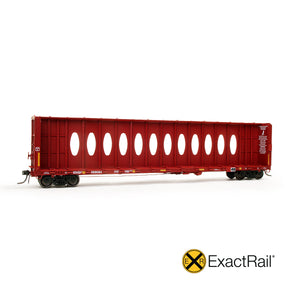 HO Scale: Thrall 63' Centerbeam Flat Car - BNSF