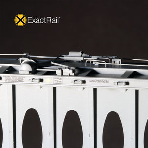 HO Scale: Thrall 63' Centerbeam Flat Car - Milwaukee Road