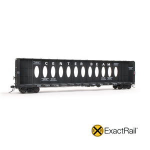 HO Scale: Thrall 63' Centerbeam Flat Car - Northwestern Oklahoma 'Ex-WP'