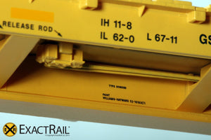 "X - Trenton Works 67'-11"" Bulkhead Flat Car : TTX : Forward Thinking' Logo - ExactRail Model Trains - 3"