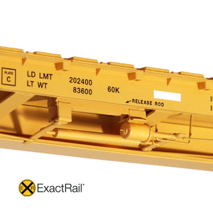 "HO Scale: TrentonWorks 67'-11"" Bulkhead Flat Car - TTPX '2000 - As-Delivered'"