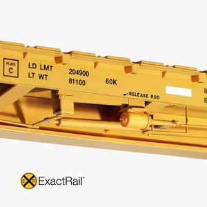 "HO Scale: TrentonWorks 67'-11"" Bulkhead Flat Car - TTPX - '9-2004 As-Delivered'"
