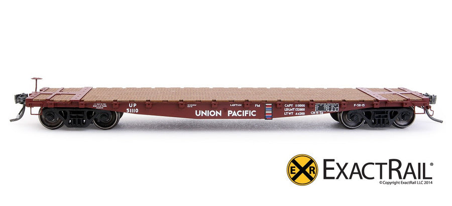 HO Scale: GSC 42' Flat Car - UP '1974 Repaint'