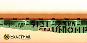 GSC 42' Flat Car : UP : MOW : 913123 - ExactRail Model Trains - 4