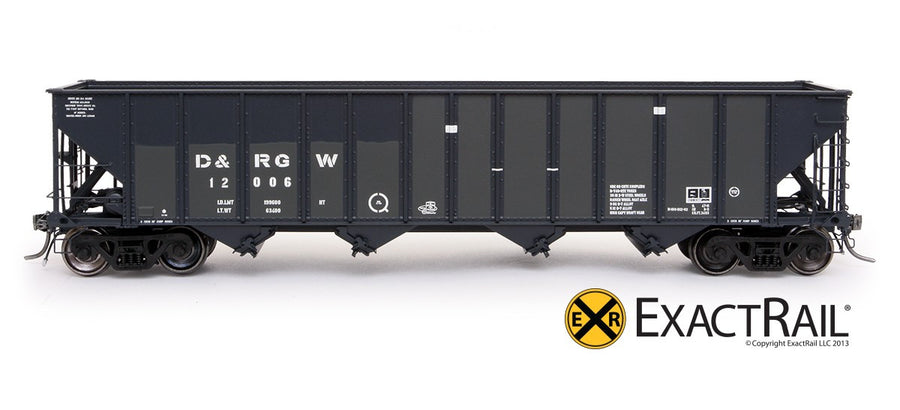 HO Scale: Bethlehem 3483 Hopper - D&RGW - 1996 Denver 'Post SP Repaint'