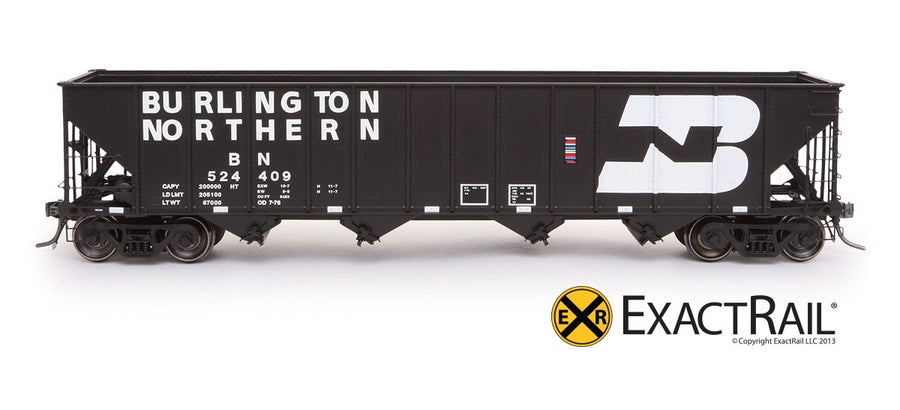 HO Scale: Bethlehem 3483 Hopper - Burlington Northern - 1976 Repaint