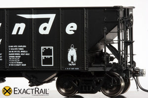 "X - Bethlehem 3483 Hopper: D&RGW: ""As Delivered"" - ExactRail Model Trains - 5"