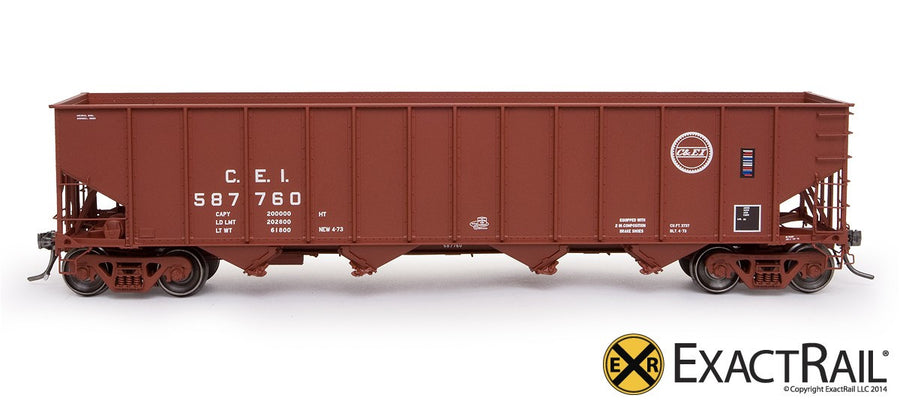 HO Scale: Bethlehem 3737 Hopper - CEI - 1973 'As Delivered'