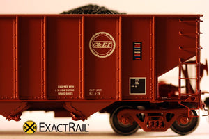 "Bethlehem 3737 Hopper : CEI : 1973 ""As Delivered"" - ExactRail Model Trains - 7"