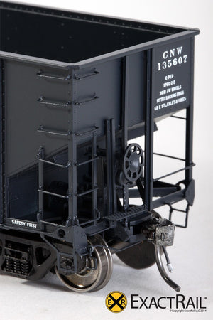 "Bethlehem 3737 Hopper : CNW : 1976 ""As Delivered"" - ExactRail Model Trains - 3"
