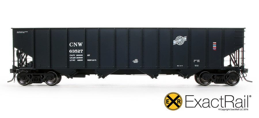 "HO Scale: Bethlehem 3737 Hopper - CNW - 1971 ""As Delivered"""