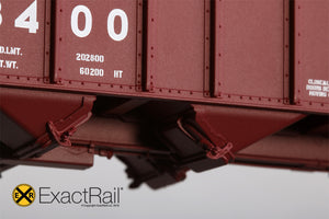 Bethlehem 3737 Hopper : UP : 588400 1991 Repaint - ExactRail Model Trains - 4