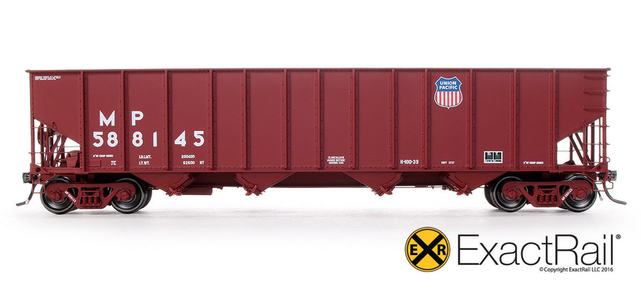 HO Scale: Bethlehem 3737 Hopper - UP - 588145 1991 Repaint