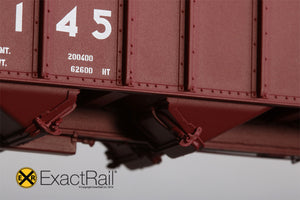 Bethlehem 3737 Hopper : UP : 588145 1991 Repaint - ExactRail Model Trains - 4
