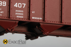 Bethlehem 3737 Hopper : MP : 1984 Small Eagle Repaint - 3716 - ExactRail Model Trains - 4