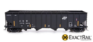 Bethlehem 4000 Hopper : CNW : Black, Ball and Bar - ExactRail Model Trains - 2