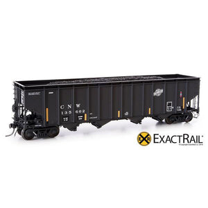 HO Scale: Bethlehem 4000 Hopper - CNW - Black, Ball and Bar