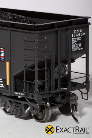 Bethlehem 4000 Hopper : CNW : Black, Ball and Bar - ExactRail Model Trains - 3