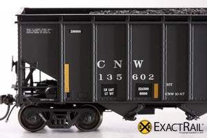 Bethlehem 4000 Hopper : CNW : Black, Ball and Bar - ExactRail Model Trains - 6