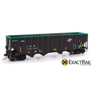 HO Scale: Bethlehem 4000 Hopper - CNW - Green, Ball and Bar