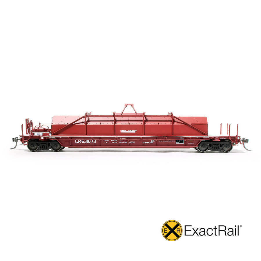 HO Scale: Thrall 54' Coil Car - Conrail 'Repainted Hood'