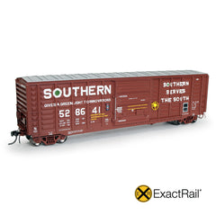 "HO Scale: P-S 5277 ""Waffle"" Boxcar : SOU : 1976 'As Delivered' w/ Hennessy Door Assist"