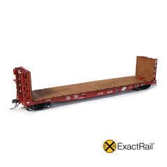 "HO Scale: GSI 53'-6"" Bulkhead Flat Car - Chicago Great Western"