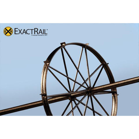HO Scale: Brass Irrigation Wheel Line