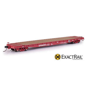HO Scale: GSC 53'-6 Flat Car - 42' Truck Centers - UP - MoW Brown - 900355