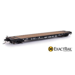 HO Scale: GSC 53'-6 Flat Car - 42' Truck Centers - NP - 1967 'As Delivered'