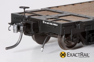 GSC 53'-6 Flat Car : 42' Truck Centers : NP : 1967 'As Delivered' - ExactRail Model Trains - 3