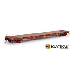"HO Scale: GSC 53'-6"" Flat Car - 43'-3"" Truck Centers - UP - 1962 'As Delivered'"