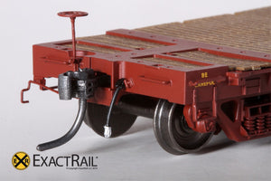 "GSC 53'-6"" Flat Car : 43'-3"" Truck Centers : UP : 1962 'As Delivered' - ExactRail Model Trains - 3"