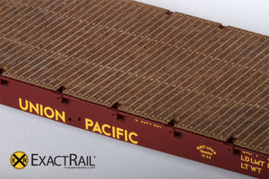 "GSC 53'-6"" Flat Car : 43'-3"" Truck Centers : UP : 1962 'As Delivered' - ExactRail Model Trains - 5"
