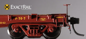 "GSC 53'-6"" Flat Car : 43'-3"" Truck Centers : UP : 1962 'As Delivered' - ExactRail Model Trains - 4"