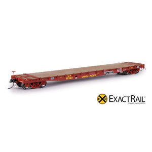 "HO Scale: GSC 53'-6"" Flat Car - 43'-3"" Truck Centers - UP - MOW - 59560"