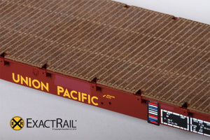 "GSC 53'-6"" Flat Car : 43'-3"" Truck Centers : UP - MOW : 59560 - ExactRail Model Trains - 4"