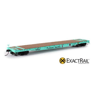 "HO Scale: GSC 53'-6"" Flat Car : 43'-3"" Truck Centers - UP - MOW - 909447"