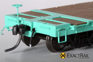 "GSC 53'-6"" Flat Car : 43'-3"" Truck Centers : UP - MOW : 909447 - ExactRail Model Trains - 3"
