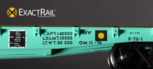 "GSC 53'-6"" Flat Car : 43'-3"" Truck Centers : UP - MOW : 909447 - ExactRail Model Trains - 5"