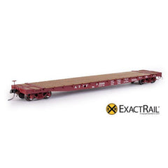 "HO Scale: GSC 53' 6"" Flat Car - 43'-3"" Truck Centers - ATSF - 1954 'As Delivered'"