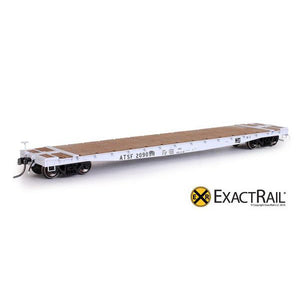 "HO Scale: GSC 53'-6"" Flat Car - 43'-3"" Truck Centers - ATSF - MOW - 209098"
